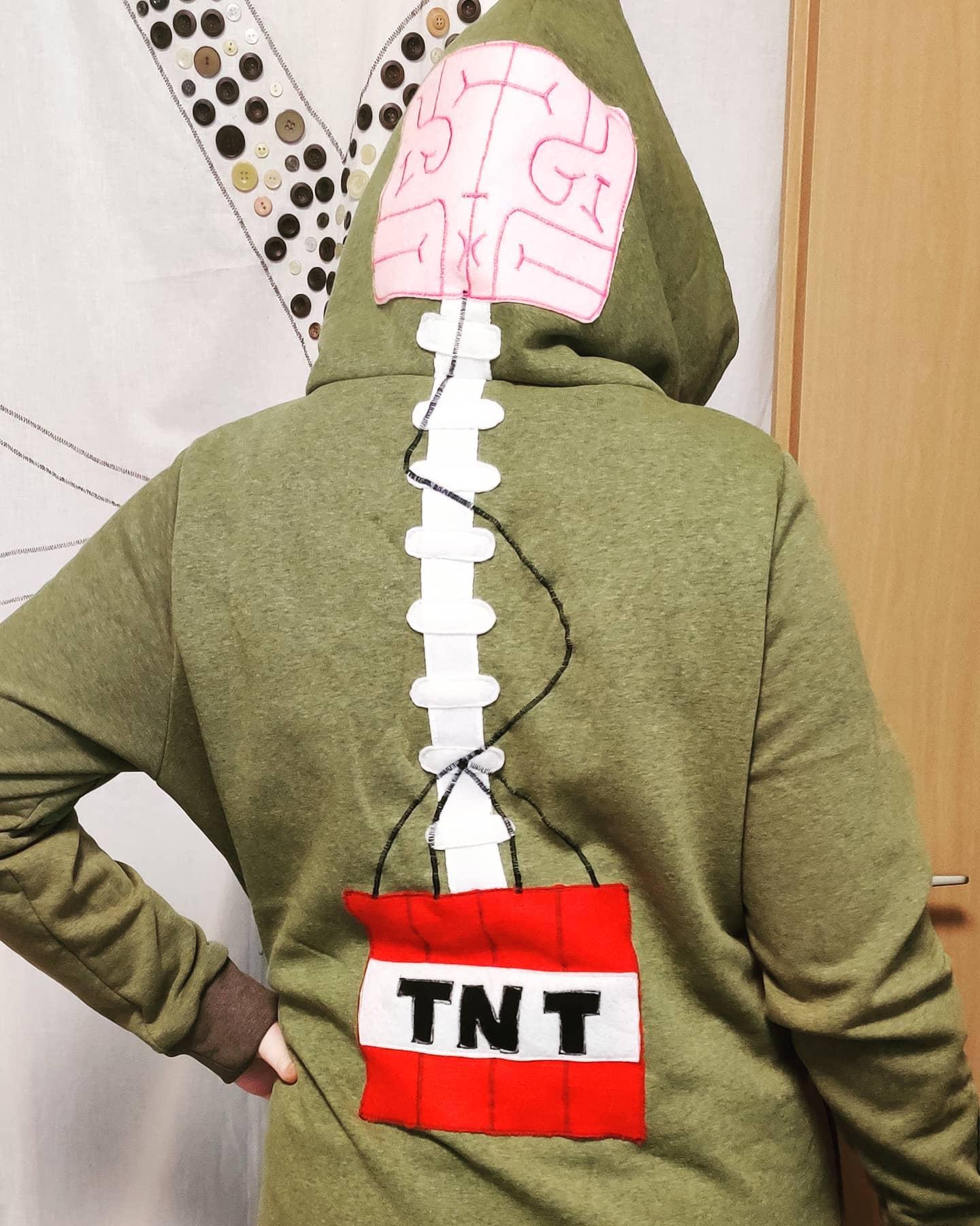 #instagram: Minecraft Creeper Pullover :) als Hoodiekleid